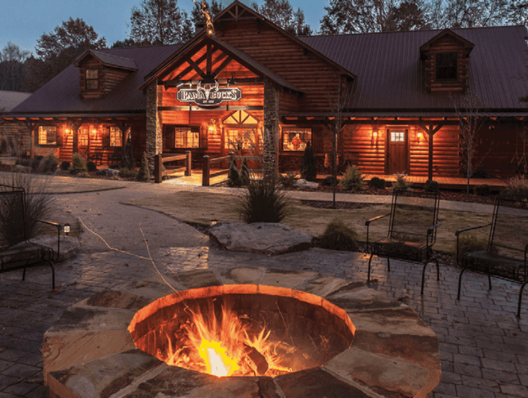 restaurant with fire pit